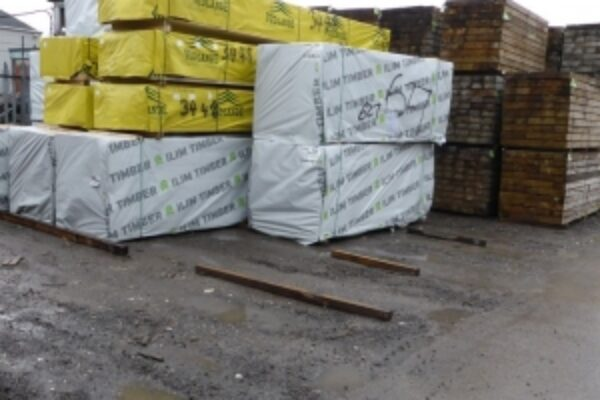 Blocks of packaged timber