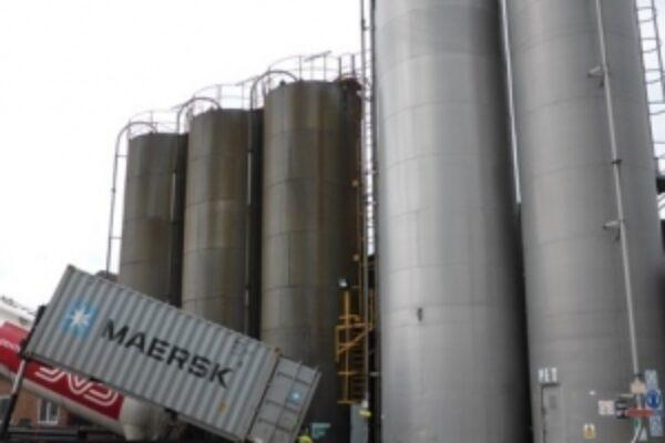 Outside industrial storage tanks