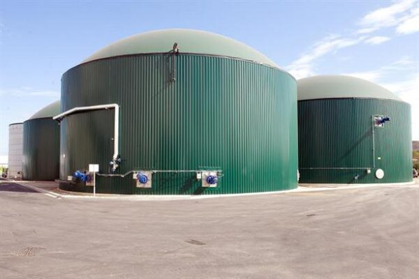 Outside of anaerobic digestion plant