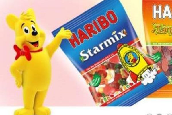 A packet of Harbio sweets and the Haribo bear
