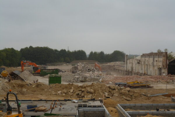 View of remedial works