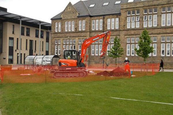 Digger on a site